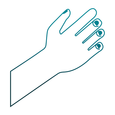 hand human isolated icon vector illustration design Stock Illustratie