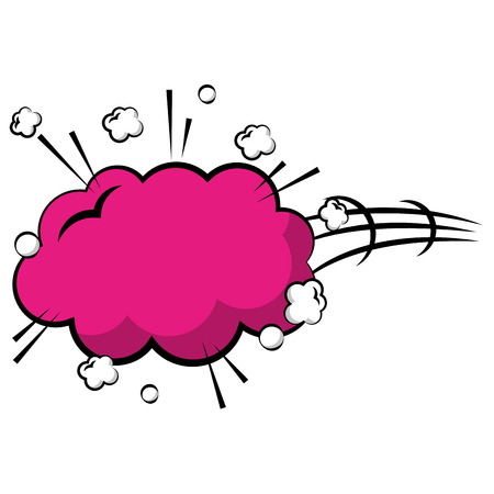 explosion pop art with cloud shaped icon vector illustration design