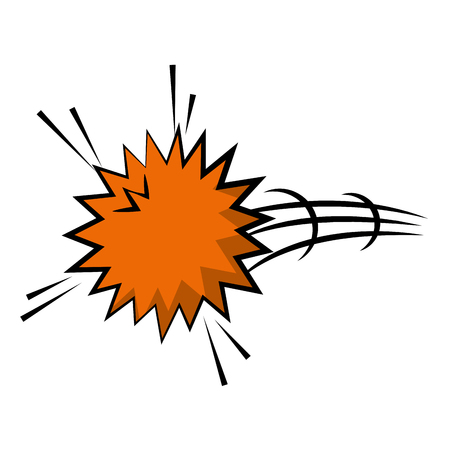 explosion pop art isolated icon vector illustration design