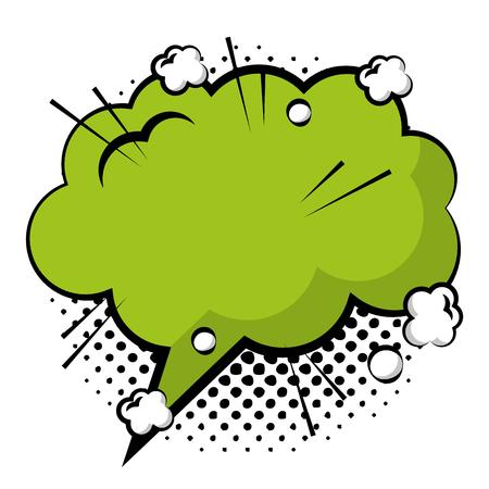 speech bubble with dream shaped icon vector illustration design Illustration