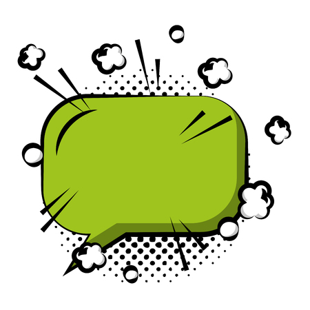speech bubble with rectangle shaped icon vector illustration design