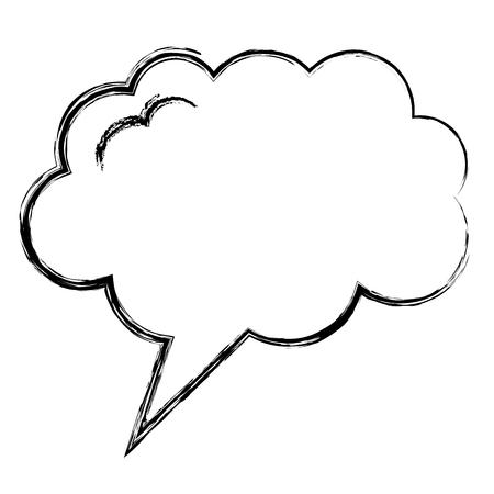 Bocadillo de diálogo con diseño de ilustración de vector de icono en forma de sueño