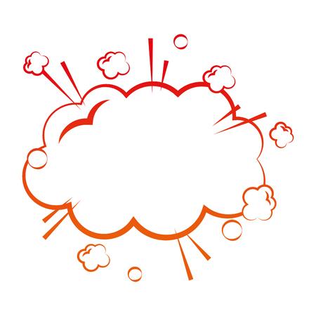 cloud speech bubble comic style vector illustration degraded color