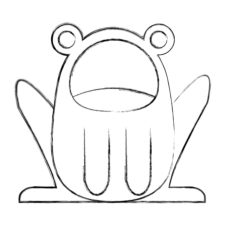 cute frog costume baby halloween vector illustration sketch Standard-Bild - 100192235