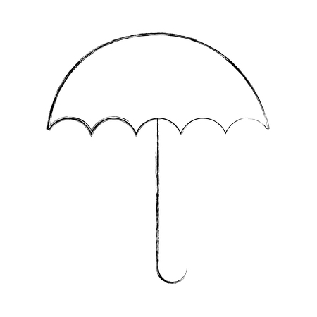 open umbrella protection weather image vector illustration sketch