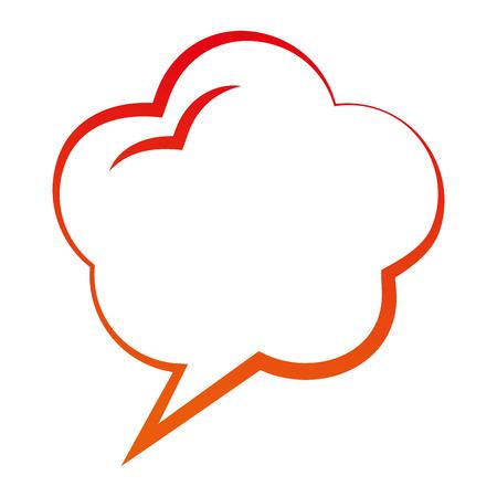 speech bubble dialog conversation talk vector illustration degraded color