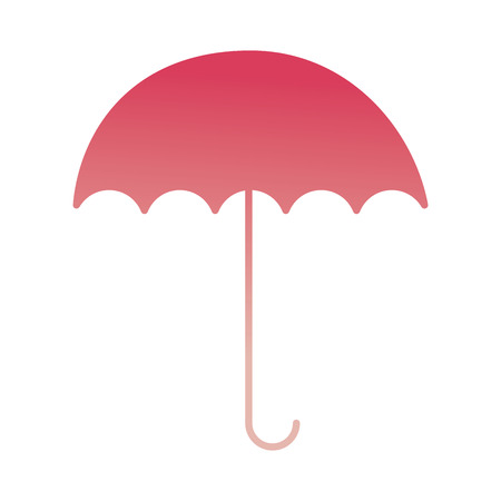open umbrella protection weather image vector illustration degraded color