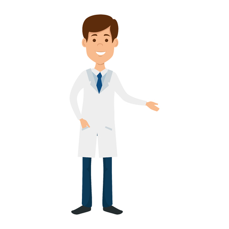 doctor professional avatar character vector illustration design