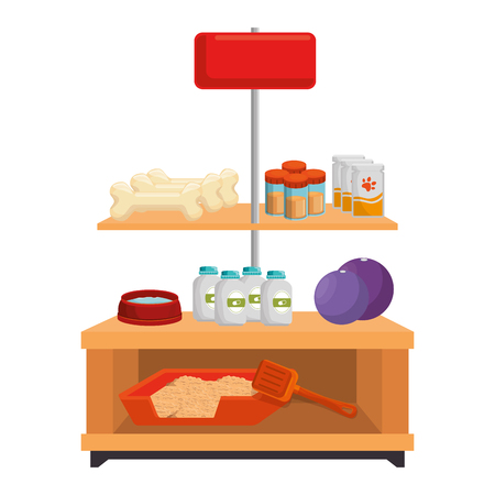 apparel pet shop with products vector illustration design 일러스트