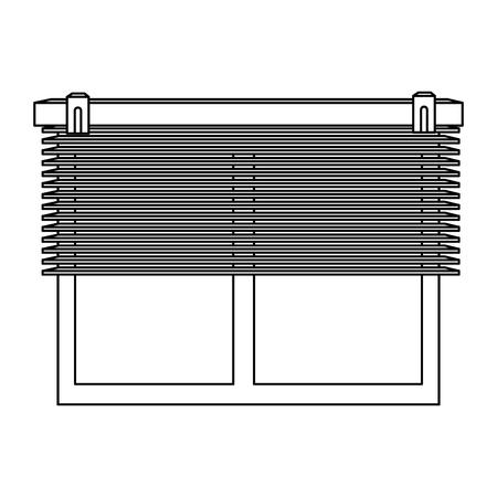 windows with blind icon vector illustration design Illustration