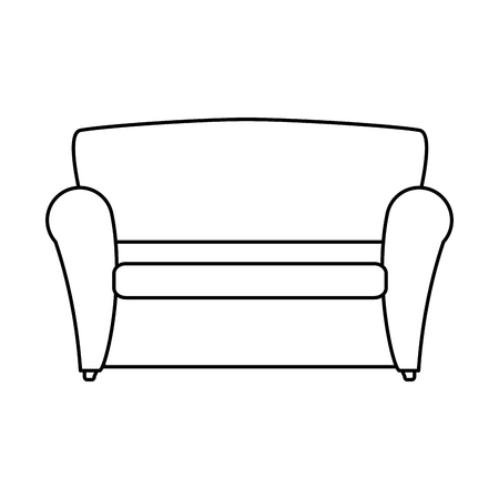 comfortable sofa isolated icon vector illustration design Archivio Fotografico - 100217405