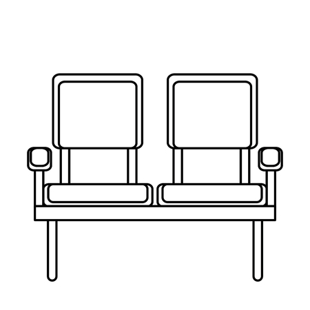 waiting room chairs icon vector illustration design Banco de Imagens - 100217408