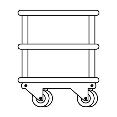 table with operating room wheels vector illustration design Archivio Fotografico - 100217409