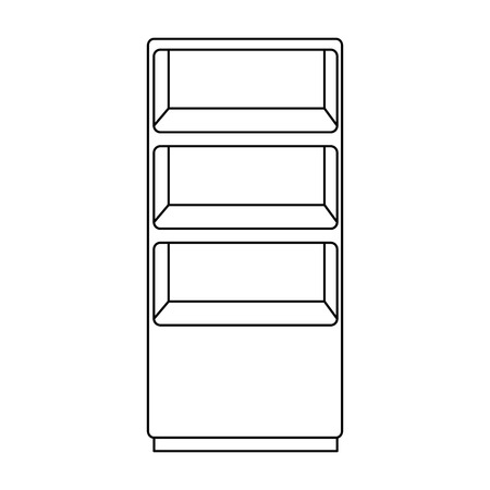wooden shelving isolated icon vector illustration design Ilustração