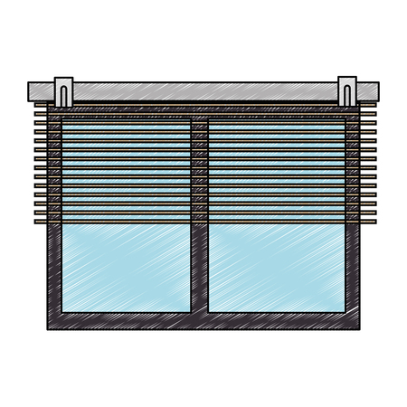 windows with blind icon vector illustration design Ilustracja