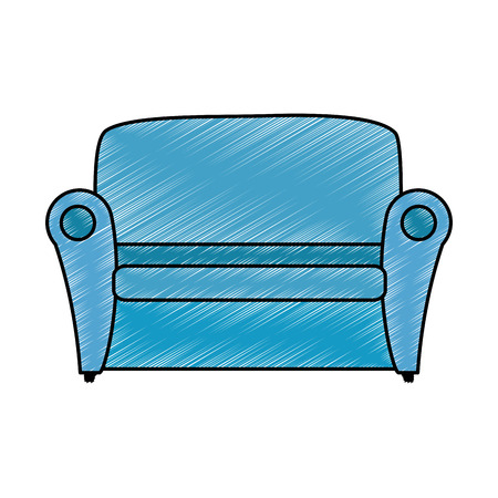 comfortable sofa isolated icon vector illustration design Ilustração