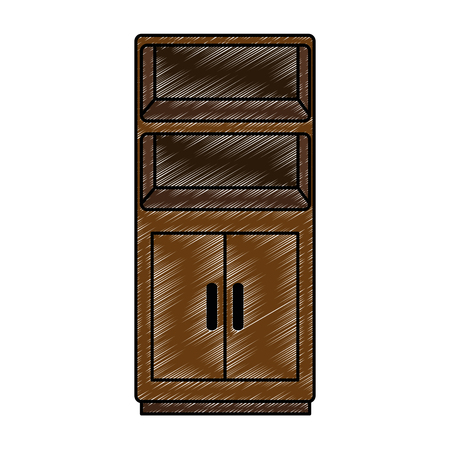 wooden shelving isolated icon vector illustration design Stock Illustratie