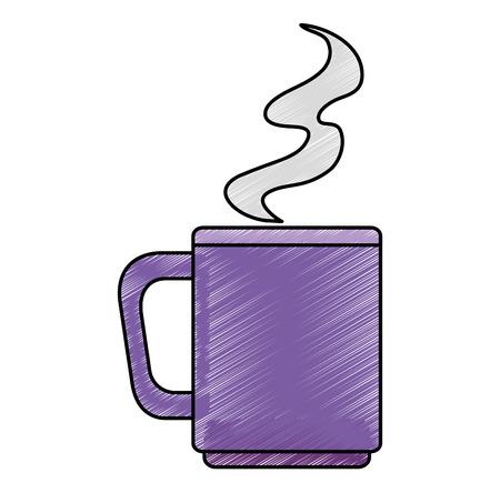 coffee cup isolated icon vector illustration design Stock Illustratie