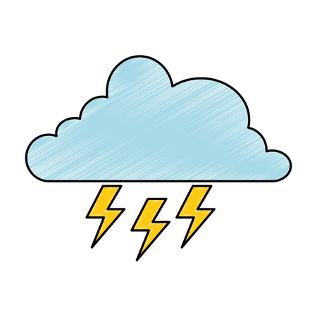 cloud weather with rays vector illustration design Ilustrace