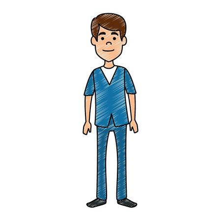 surgeon doctor professional avatar character vector illustration design