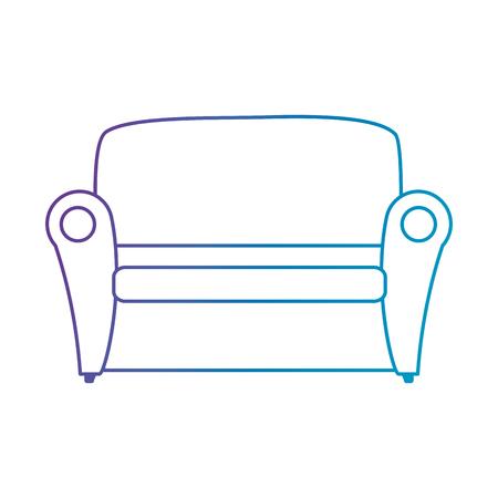 comfortable sofa isolated icon vector illustration design Ilustrace