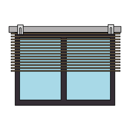 windows with blind icon vector illustration design 向量圖像