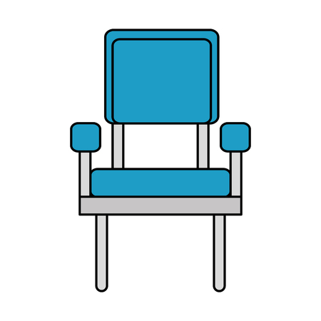 waiting room chairs icon vector illustration design