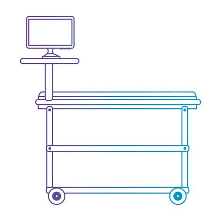 stretcher with monitor medical vector illustration design  イラスト・ベクター素材