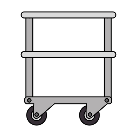 table with operating room wheels vector illustration design