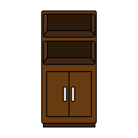 wooden shelving isolated icon vector illustration design Vettoriali