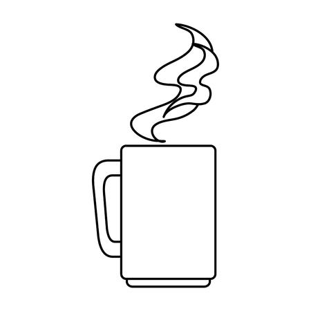 Taza de café, diseño de ilustraciones vectoriales icono aislado