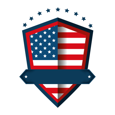 United states of america emblematic shield vector illustration design