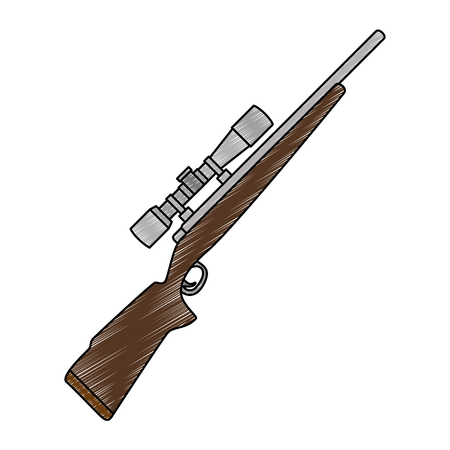 sniper rifle weapon icon vector illustration design