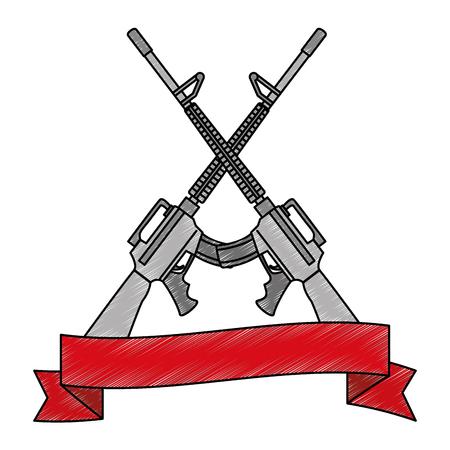 rifle war weapon icon vector illustration design
