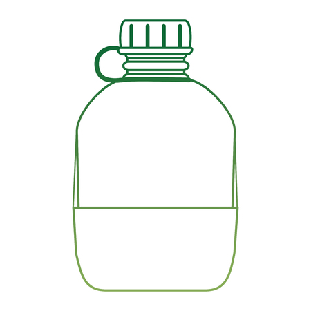 military canteen isolated icon vector illustration design  イラスト・ベクター素材