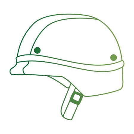 military helmet war icon vector illustration design