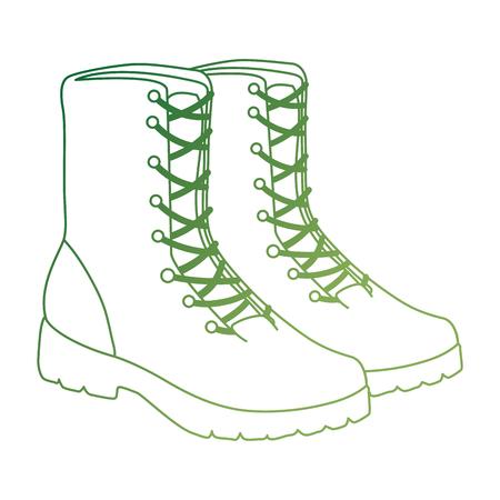 military boots equipment icon vector illustration design