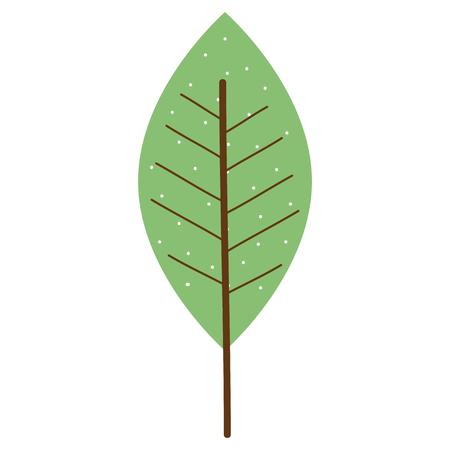 Leaf single decorative icon