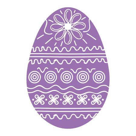 Diseño de ilustración de vector de decoración de huevo de Pascua
