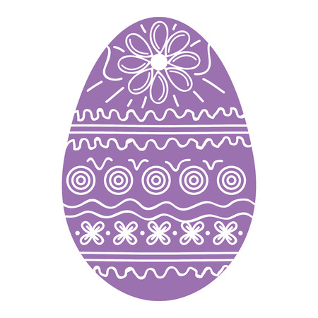 Easter egg decoration vector illustration design
