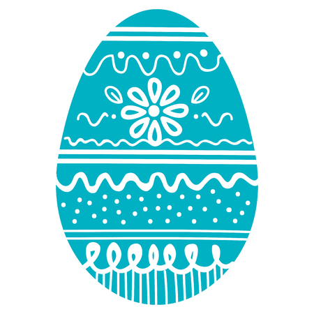 Easter egg decoration vector illustration design