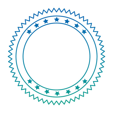circle lace with stars emblem icon vector illustration design