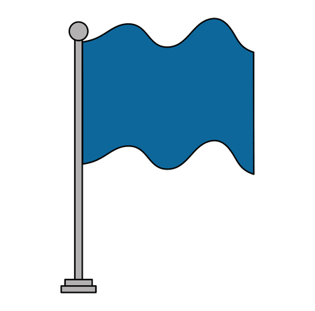 A flag in pole isolated icon vector illustration design