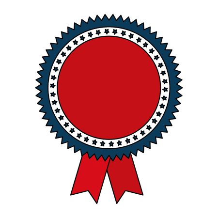 Red ribbon with stars vector illustration design