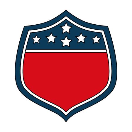 USA shield symbol vector illustration.