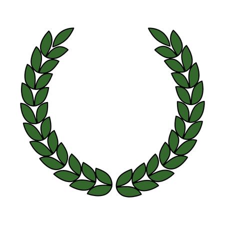 Wreath crown icon vector illustration design