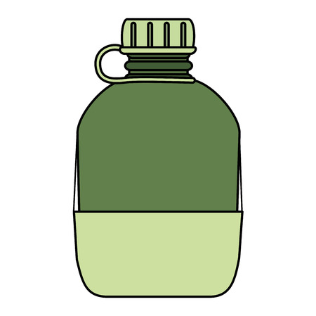 military canteen isolated icon vector illustration design Illustration