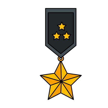 medal with stars award vector illustration design Vettoriali