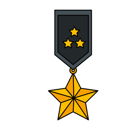medal with stars award vector illustration design Иллюстрация