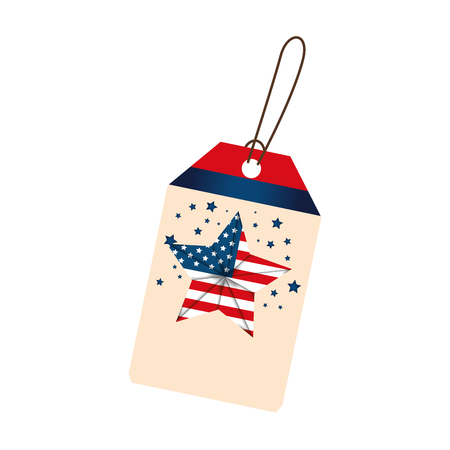 Independence day commercial tag with star vector illustration design